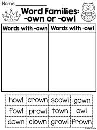 ou and ow worksheets u0026 activities no prep 100 fun worksheets