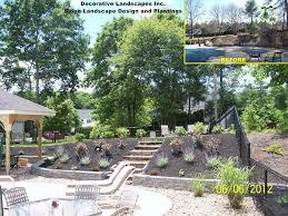 landscape ideas for a sloped front yard backsplash kitchen