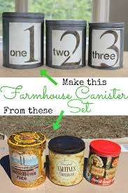 how to make a farmhouse canister set a birch lane knock off