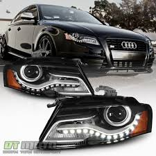 audi a4 headlights 2009 2012 audi a4 s4 b8 halogen model led drl projector