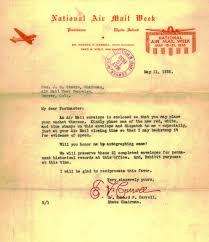 Namw national air mail week index