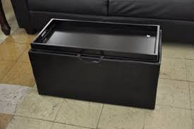 Leather Storage Ottoman With Tray Ottoman With Tray Leather House Plan And Ottoman Build Ottoman