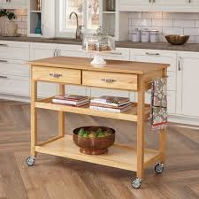 Home Styles Meridian Kitchen Cart Hayneedle - Kitchen cart table