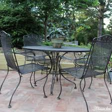 How To Spray Paint Patio Furniture Spray Paint Patio Furniture Our Vintage Wrought Iron Patio Set