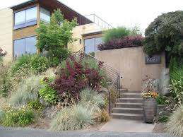 windswept smoke siding landscape contemporary with modern outdoor