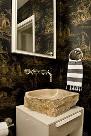 Black And Gold Bathroom White And Gold Vessel Sink Design Ideas