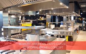 Fast Food Kitchen Design Nayati U2013 Bowery American 1920 U0027s Classic With Open Kitchen Concept