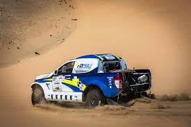 dakar rally 2017 has a pair of ford rangers u0026 two toyota hiluxes