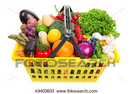 fruit and vegetable basket drawing of fruit and vegetables basket k9403833 search clipart