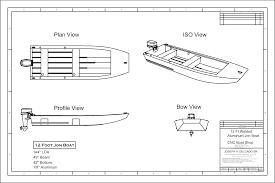 jon boat floor plans nice easy jon boat plans cl