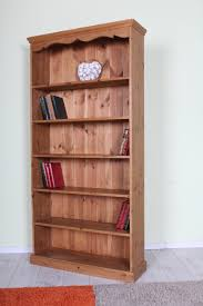 Pine Bookcase Solid Pine Bookcase With 5 Fixed Shelves