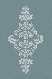large wall damask stencil pattern faux mural 1050 14 75 via