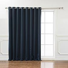 Navy Blackout Curtains Best Home Fashion Wide Width Thermal Insulated