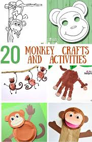 Monkey Paper Plate Craft - 20 cool monkey crafts and activities for