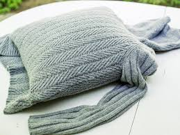 turn an old sweater into a chic preppy pillow pillows winter