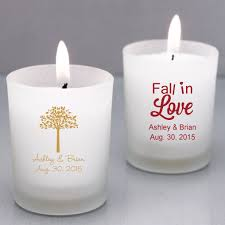 wedding favors candles fall personalized candle holders personalized glassware favors