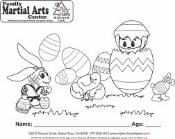easter coloring contest page family martial arts center in santa