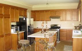 kitchen paint colors with oak cabinets and white appliances window