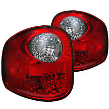 ford lightning tail lights 1997 2003 f150 spyder flareside led tail lights red smoked sl5003430