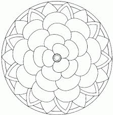 simple mandalas print color background coloring simple