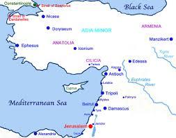 Bosporus Strait Map Maps The 12th Century Crusades