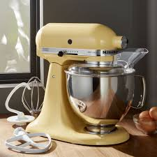 Kitchen Aid Ice Cream Maker Attachment by Kitchenaid Artisan Majestic Yellow Stand Mixer Crate And Barrel