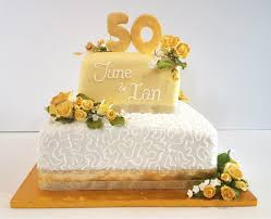 golden wedding cakes 50th golden wedding anniversary party supplies quality cake