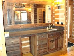 reclaimed wood bathroom mirror bathroom rustic reclaimed wood horizontal bathroom mirror feat wood