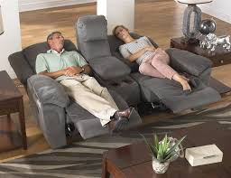 Catnapper Leather Reclining Sofa Joyner Power Lay Flat Reclining Sofa With Drop Down Table In