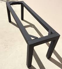 steel table base in custom dimensions or standard sizing in an