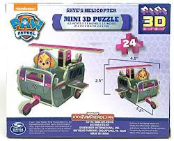 amazon paw patrol skye u0027s helcopter mini 3d puzzle toys u0026 games