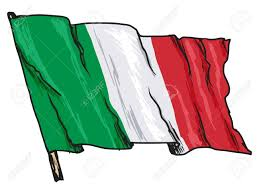 Flag Of Itali Hand Drawn Sketch Illustration Of Flag Of Italy Royalty Free