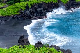 black sand beach hawaii black sand beach maui j m photography