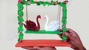 how to make paper swan for room decoration paper quilling art