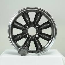 rota wheels rb 1570 4x95 25 25 57 1 gunmetal with polish lip