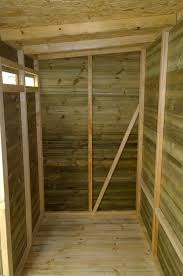 shed interior paint painting pressure treated wood and particleboard inside a