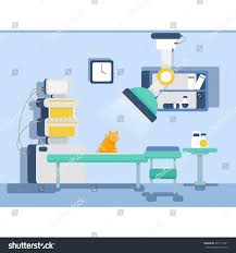 vet clinic cat dog receiving treatment stock vector 477111901