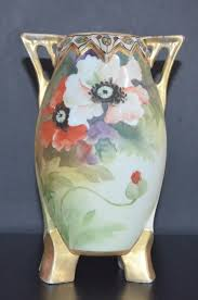 Nippon Hand Painted Vase Asian Christiescurios