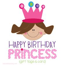 birthday card princess birthday gift tags and card