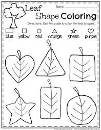 fall preschool unit shapes worksheets fall leaves and worksheets