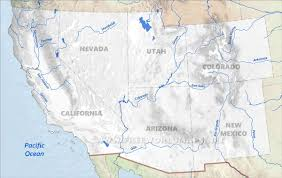 Map Of The United States Rivers by Southwestern Us Physical Map