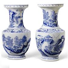 Hand Painted Chinese Vase Blue And White Vases Blue White Vases Blue White Vase Blue
