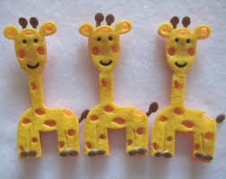 giraffe wooden animal ornaments for safari jungle themed