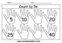 Count By 5 Worksheets Printable Free Count By 5s 3 Worksheets Free Printable Worksheets Worksheetfun