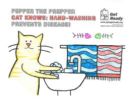 pepper the prepper cat get ready coloring book