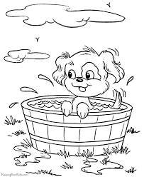 free printable dog pictures kids coloring