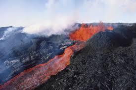 Hawaii Lava Flow Map Volcanoes Of The Big Island Of Hawaii