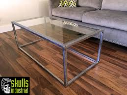Steel And Glass Coffee Table Steel And Glass Coffee Table Skulls Industrial