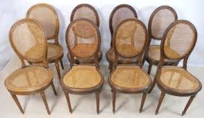 Bergere Dining Chairs Eight Walnut Framed Bergere Dining Chairs 147699