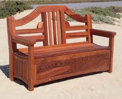 alans plans com redwood storage bench custom outdoor wooden storage